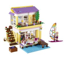 "LEGO Friends Stephanie's Beach House - LEGO - Toys ""R"" Us - She did not ask for this by name, but she has liked it when saw it in the store. Lego Toys, Lego Duplo, Legos, Lego Beach, Lego Friends Sets, Friends Series, Lego System, Buy Lego, Lego Group"