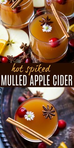 holiday cocktails Easy Hot Spiked Mulled Apple Cider a fun cocktail for the holiday season! This Mulled Cider is filled with cinnamon sticks, star anise, clove, all spice, fresh oranges and a spiced rum to warm you right up! Crockpot Apple Cider, Apple Cider Drink, Spiked Apple Cider, Mulled Apple Cider, Apple Cider With Alcohol, Alcoholic Apple Cider Recipe, Hot Drinks With Alcohol, Hot Apple Cider Cocktail, Mulled Wine