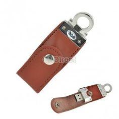 $8.20 Creative Leather 8GB USB 2.0 Flash Memory Thumb Drive Stick Pen Brown