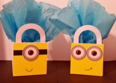 10 Minion Favor Boxes Centerpieces Baby by CutePartySupplies