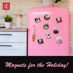 Turn your favorite photos of your friends and family into custom photo magnets. Create them to place around the house or as fun stocking stuffers this holiday! Start designing today, it's easy!