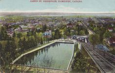 James Street Reservoir. Postcard mailed September 23, 1910.