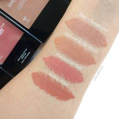 Wet n Wild color icon blush swatches #makeupdupes