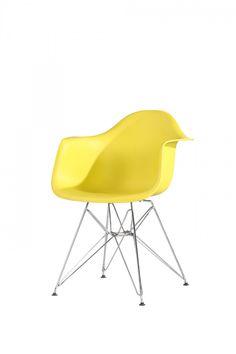 Scaun Tingo Metal Yellow #homedecor #interiordesign #inspiration #homedecor #interiordesign #decoration Eames, Interior Design, Chair, Metal, Inspiration, Furniture, Yellow, Home Decor, Nest Design