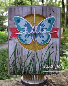 Stampin' Up! Watercolor Wings Gate Fold Card - {PP252} - Nance Leedy