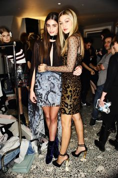 """""""Gigi H. and Taylor M. Hill backstage at Emilio Pucci AW15 Collection in Milan. Photographed by: Sonny Vandevelde """""""