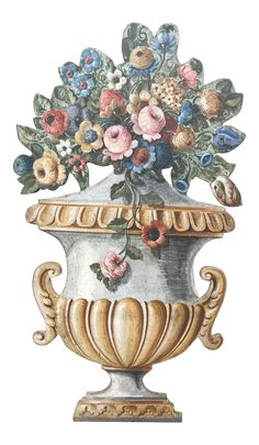 Decorative Objects, Decorative Bowls, Flower Baskets, Florence Italy, Painting On Wood, Painted Furniture, Hand Painted, Paper, Flowers