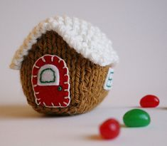 """The Little House"" knitting pattern includes lots of photos and detailed instructions to make all versions of The Little House shown in the photos in this listing."