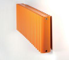 Ron aluminium radiator in bright orange