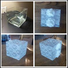 Mod Podge Lace On Glass