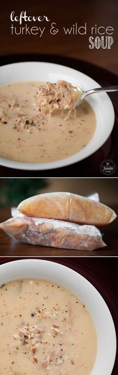 Leftover Turkey and Wild Rice Soup transforms your turkey carcass into the most delicious, rich, tasty feel good soup.