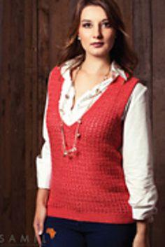 Ravelry: Ladies V-Neck Pullover pattern by Brenda Grobler