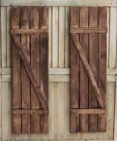 Rustic Shutters - Farmhouse Shutters - Country Shutters - Primitive Shutters - Barnwood Shutters - Rustic Wooden Shutters - Wooden Shutters by SimplebyBrooke on Etsy https://www.etsy.com/listing/245750387/rustic-shutters-farmhouse-shutters