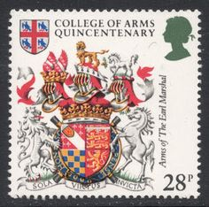 1984 set, marking the 500th anniversary of the College of Arms. From Stamp Magazine's blog