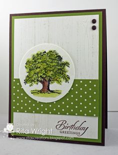 Tree Birthday card