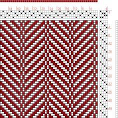 Hand Weaving Draft: 24340, 2500 Armature - Intreccio Per Tessuti Di Lana, Cotone, Rayon, Seta - Eugenio Poma, 4S, 4T - Handweaving.net Hand Weaving and Draft Archive