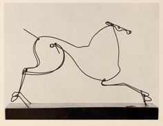 "artchiculture: Alexander Calder ""Circus Horse"" 1961"