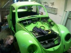 Selina building her own #green #VW # Bug
