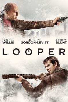 """First movie for 2013, 1/50, """"Looper."""" Better-than-average time travel film with a few twists, but not quite up to the high praise I'd heard. A good rental."""