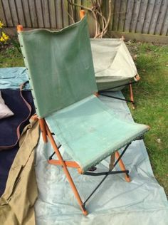 Early Wwii British Army Major Officer Folding Field Chair