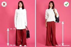 Cách chọn quần áo cho người thấp với đồ dàng dài free size