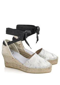 Toni Pons Espadrilles Flat and Wedge Heels - The Espadrille Hut Leather Espadrilles, Leather Wedges, Denim Cutoffs, Outdoor Parties, Pretty Much, Snake Print, Warm Weather, Wedge Heels
