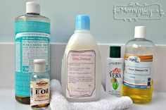 Ingredients for an All Natural and Non-Toxic Baby Shampoo and Body Wash Recipe
