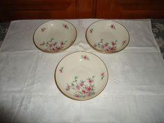 Vintage Set of 3 Lenox Peachtree Pattern Fruit/Dessert Bowls. USA. Discontinued #Lenox
