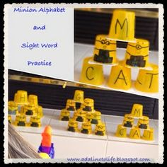 Minion Sight Words and Spelling