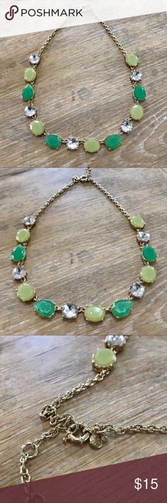 J. Crew Necklace J. Crew Factory necklace with adjustable closure. This is a gorgeous mint green and lime yellow color. Sadly, I'm not sure I ever wore this after I bought it. Excellent like new condition. J. Crew Jewelry Necklaces