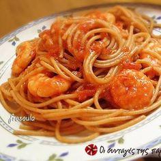 Γαριδομακαρονάδα Light Spaghetti, Ethnic Recipes, Food, Meals, Noodle