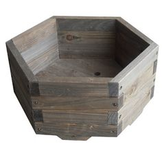 This Medium 20 x 20 x Hexagon Fir Wood Barrel Planter would be a great addition to your home. It has a hexagon shaped garden barrel. Wood Barrel Planters, Garden Planter Boxes, Wooden Planters, Garden Pots, Pallet Planters, Wooden Containers, Cedar Planters, Garden Gazebo, Bonsai Garden