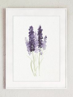 Lavender Flower Painting Canvas Botanical Print Kitchen Wall | Etsy