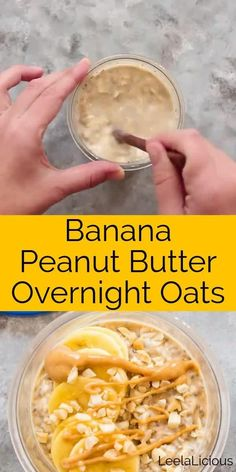 This bowl of Banana Peanut Butter Overnight Oats combines the ideas of healthy breakfast and comfort food. Nutritious oats and chia seeds Overnight Oats Receita, Peanut Butter Overnight Oats, Overnight Oats With Banana, Overnight Oats Benefits, Overnight Oats With Milk, Low Calorie Overnight Oats, Dairy Free Overnight Oats, Peanut Butter Banana Oats, Best Overnight Oats Recipe