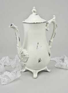 Vintage Silver Plated Teapot Shabby Chic Hand by olliesfinethings, $42.00