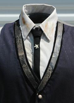 Vintage Starfish Tie Pin with Skinny Black Crepe by OLearStudios, $22.00