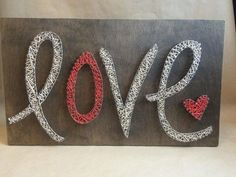 Nail String Art  - Love - Valentines Day - Salmon and Cream