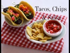 ▶ Tacos, Chips & Salsa - Clay Food Tutorial - YouTube