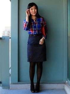 Skirt with Plaid