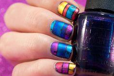 Foil Gradient Nail Art Design Galaxy Nails, Gradient Nails, Uv Gel Nails, Diy Nails, Opi, Essie, Manicure Pictures, Victoria Secret Perfume, Picture Polish