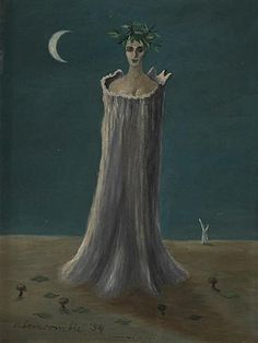 Figure Coming Out Of A Tree by Gertrude Abercrombie (1909-1977), American (americangallery)