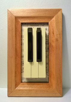 Framed Piano Keys by PodactorPianoUpcycle on Etsy, $49.50
