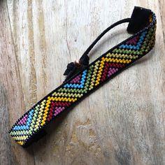 Yirgacheffe loom beaded bracelet in rich rainbow tones