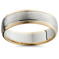 Mens 14k Gold Two Tone Brushed Wedding Ring Band New in Jewelry & Watches, Engagement & Wedding, Wedding & Anniversary Bands | eBay