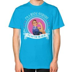Im a dental hygienist Unisex T-Shirt (on man)