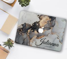 Grey Marble Macbook Case Name Cute Macbook Pro 13 inch 2020   Etsy Marble Macbook Cover, Macbook Air 13 Cover, Macbook Case, Macbook Pro 15 Inch, Macbook Pro Retina, Girl Cases, Rose Gold Marble, Marble Case, Laptop