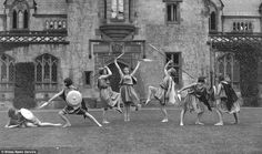 Pupils at Howell's Girls' School in Denbigh, north Wales, perform Shakespeare's As You Like It during the 1930s