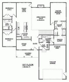 Sand Dollar Floor Plan  1 Story  4 Bedrooms  3 Baths  Family Captivating Dining Room Floor Plans Design Ideas