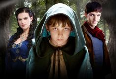 """Promotional Photo from Series One """"The Beginning of the End"""" - Merlin (Colin Morgan), Morgana (Katie McGrath), Mordred (Asa Butterfield)"""