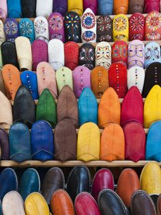 Leather Slippers, Medina Fes, Middle Atlas, Morocco by Pete Oxford. Photographic print from Art.com.